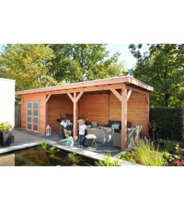 Tuinhuis Roek +  luifel 300cm
