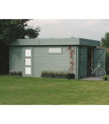 Houten moderne garage