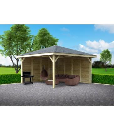 Tuinhuis-Kiosk-Pavilion: 4370 x 4370mm