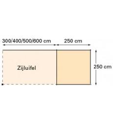 Tuinhuis-Blokhut Kolibri+Luifel 300cm
