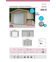 Tuinhuis-Garage Traditional sectionaal poort S8330