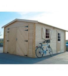 Tuinhuis-Houten garage S8944