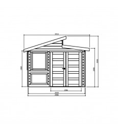 Tuinhuis-Blokhut Merano