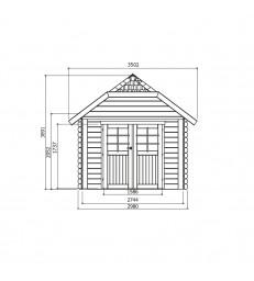 Tuinhuis-Blokhut Cork