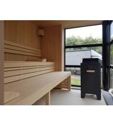 Hemlock sauna aansluitend op bestaande venster