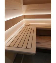 Massief abachi houten sauna op maat