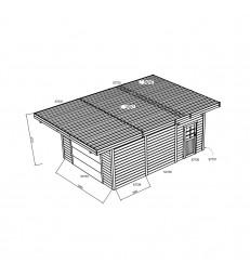 Tuinhuis-Carport-garage GEIMPREGNEERD